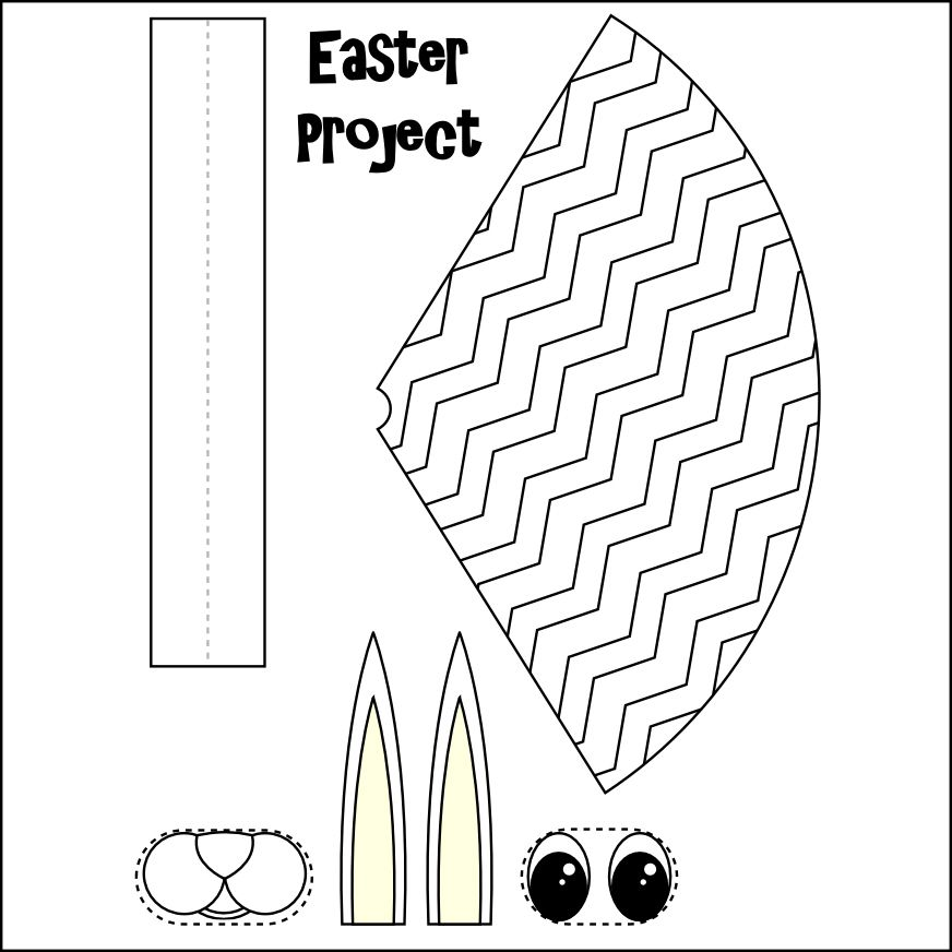 Free Printable Easter Crafts Easy Easter Basket Template Free