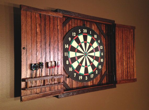 Barnwood Dartboard Cabinet Made To Order Michael