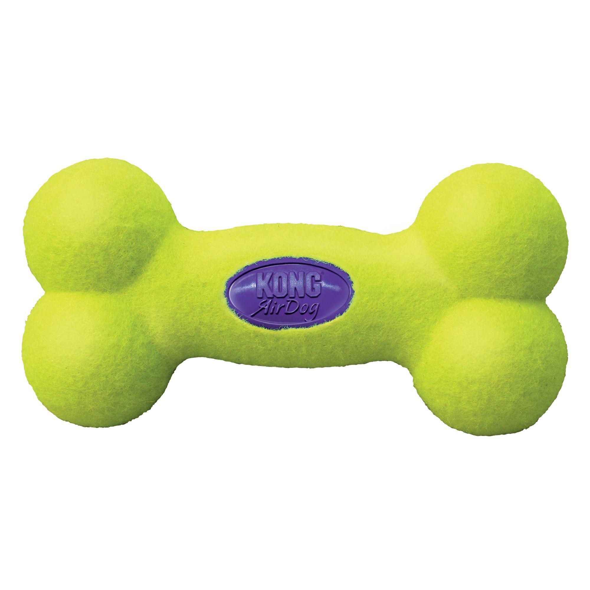 Air Kong Squeaker Bone Dog Toy Medium Yellow Dog Toys Small