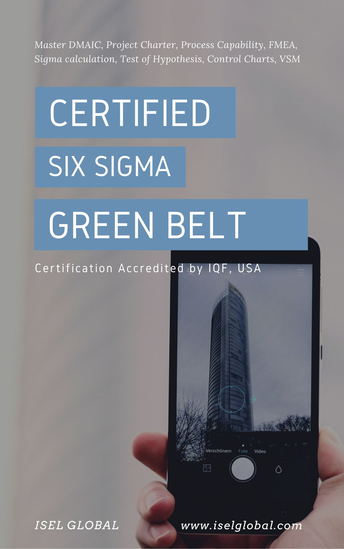 Iselglobal Is Well Known Name For Certified Six Sigma Green Belt