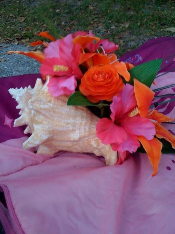 My beach wedding centerpiece bouquet
