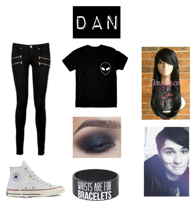 """""""Dan"""" by a-v-a-196 ❤ liked on Polyvore featuring Paige Denim and Converse"""