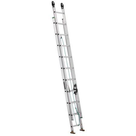 Louisville Ladder 20 Foot Aluminum Extension Ladder 225 Pound Capacity Type Ii W 2222 20pg Ladder Aluminium Ladder Extensions