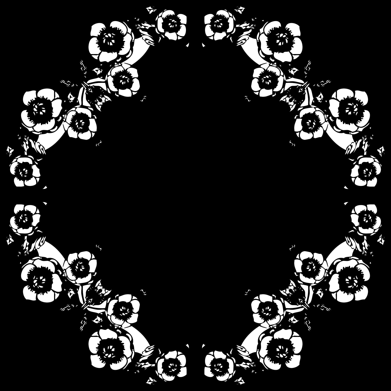 vintage black and white floral design by @gdj, vintage black and