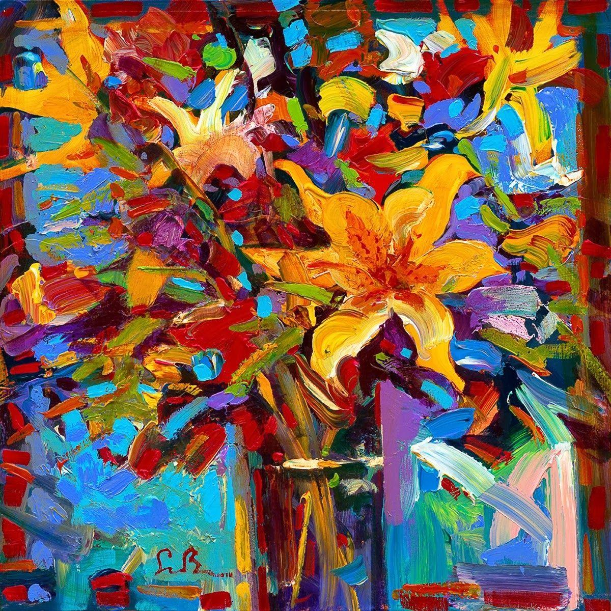 Simon Bull Ditulis Oleh Seni Rupa Title 36 Lukisan Bunga