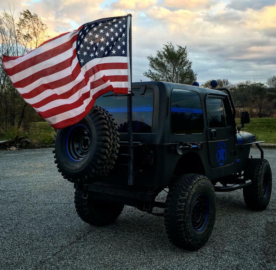 Jeep With Jeep Village Blue Jeep Jeep Yj Jeep