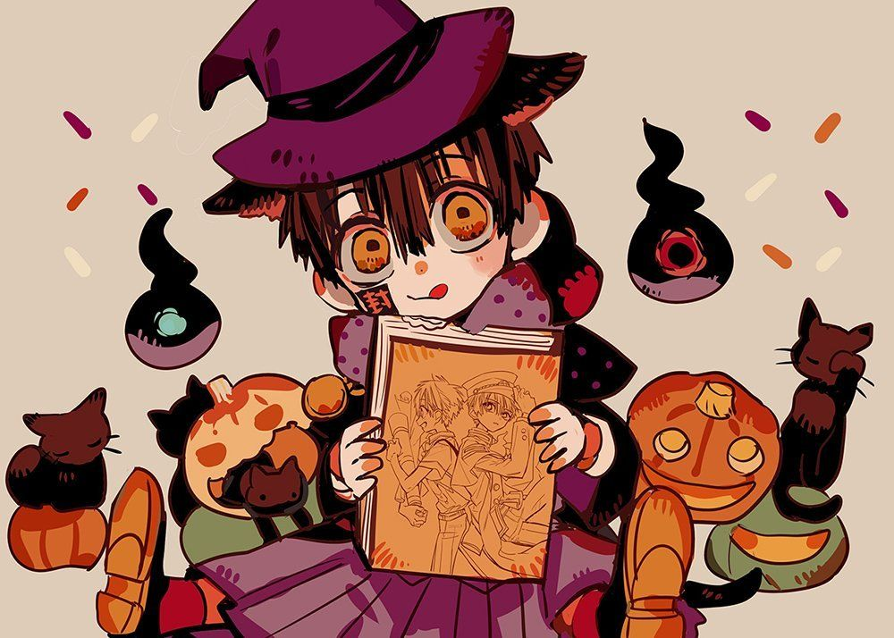 Some fluffy Halloween Hanako-kun art from Aida-sensei^^ | Anime, Dễ thương,  Phim hoạt hình