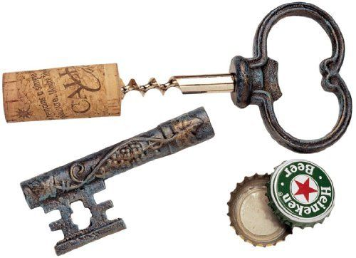 The Bishop S Church Key Corkscrew And Bottle Opener By Design Toscano 14 95 Solid Cast Iron Body Stainless Stee Bottle Opener Key Bottle Opener Wine Opener