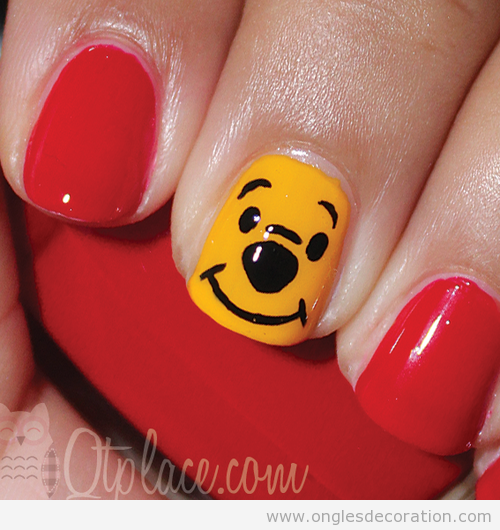 Dessin ongles Winnie the pooh
