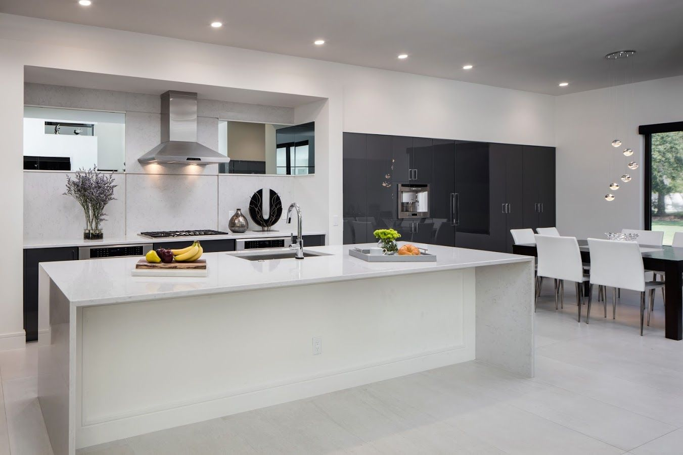 Modern Acrylic Gloss Kitchen Designed By Monarch Kitchen And Bath