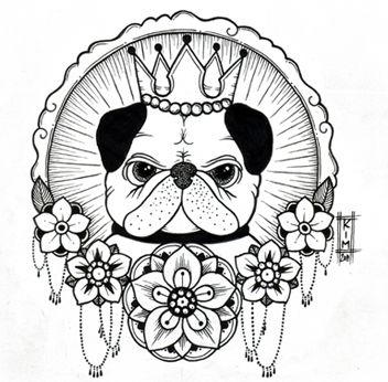 Pug by Kim-Anh Nguyen I did this sketch commissioned by Haylee so I ...