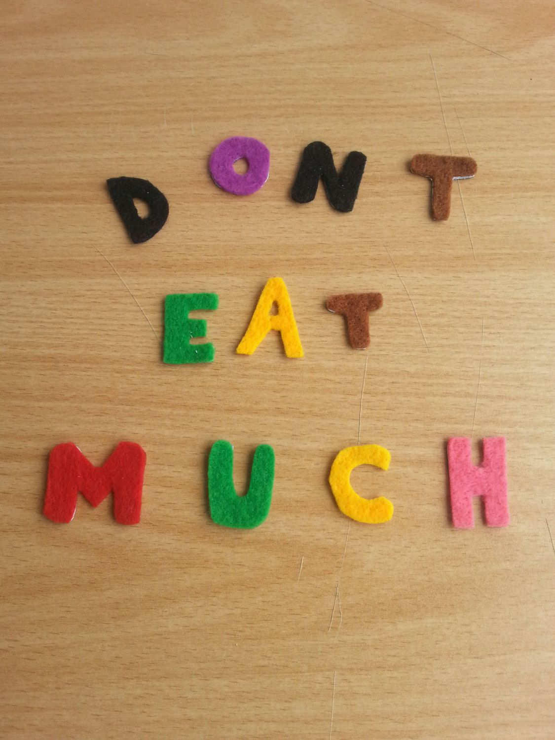 don't eat much felt magnet by 6street on Etsy, $5.20