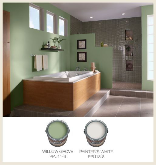 Bathroom Color Inspiration Gallery: Light #jade Makes For A Great Color In The #bathroom