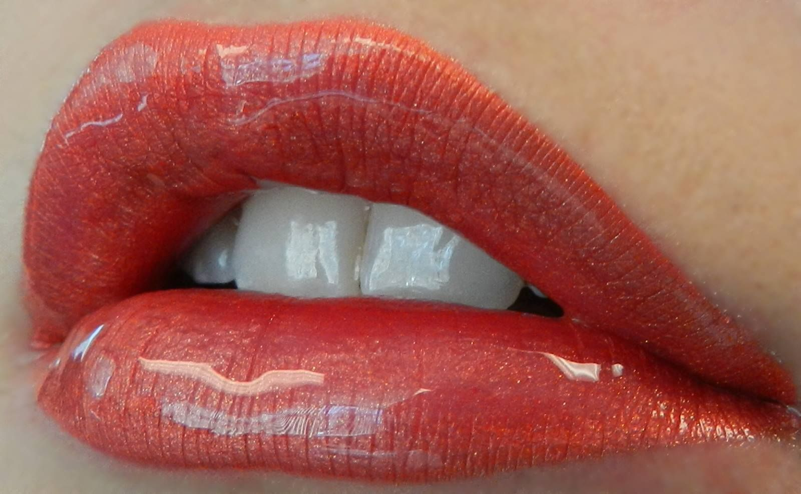 3 layers of LipSense: Spice Ice, Luv It and Coral Ice