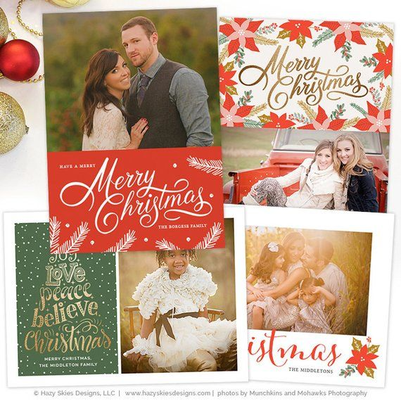 Christmas Card Templates for Photographers, Christmas Photo Card