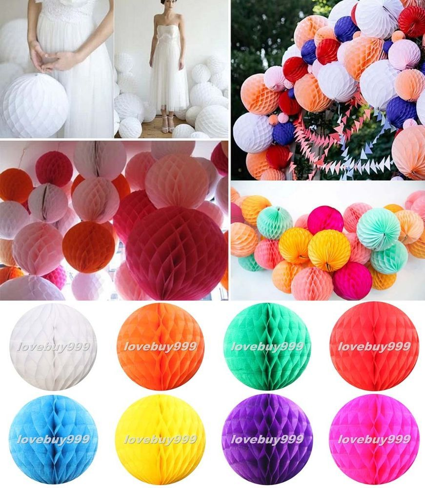 Honeycomb Ball Decorations Hot Honeycomb Ball Paper Lanterns Hanging Wedding Party Table Home