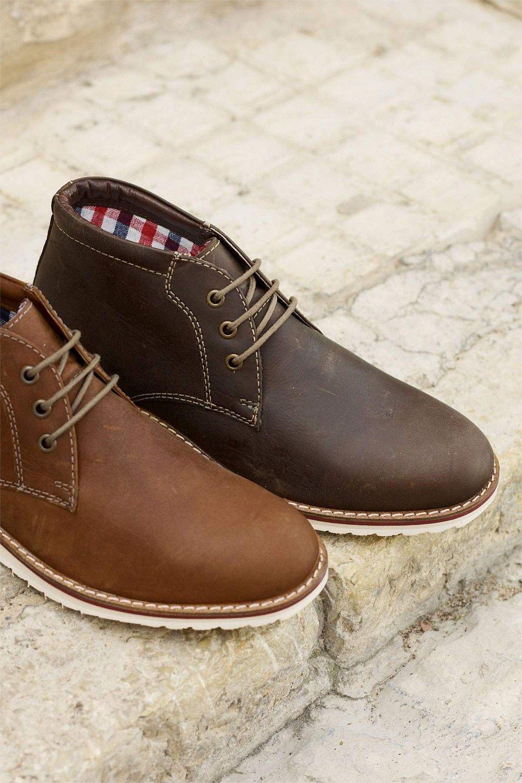Mens Next Leather Chukka Boot - Brown Next x2T3E