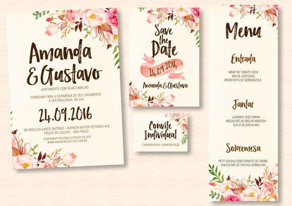 Kit Convite De Casamento Digital Convite De Casamento Convite