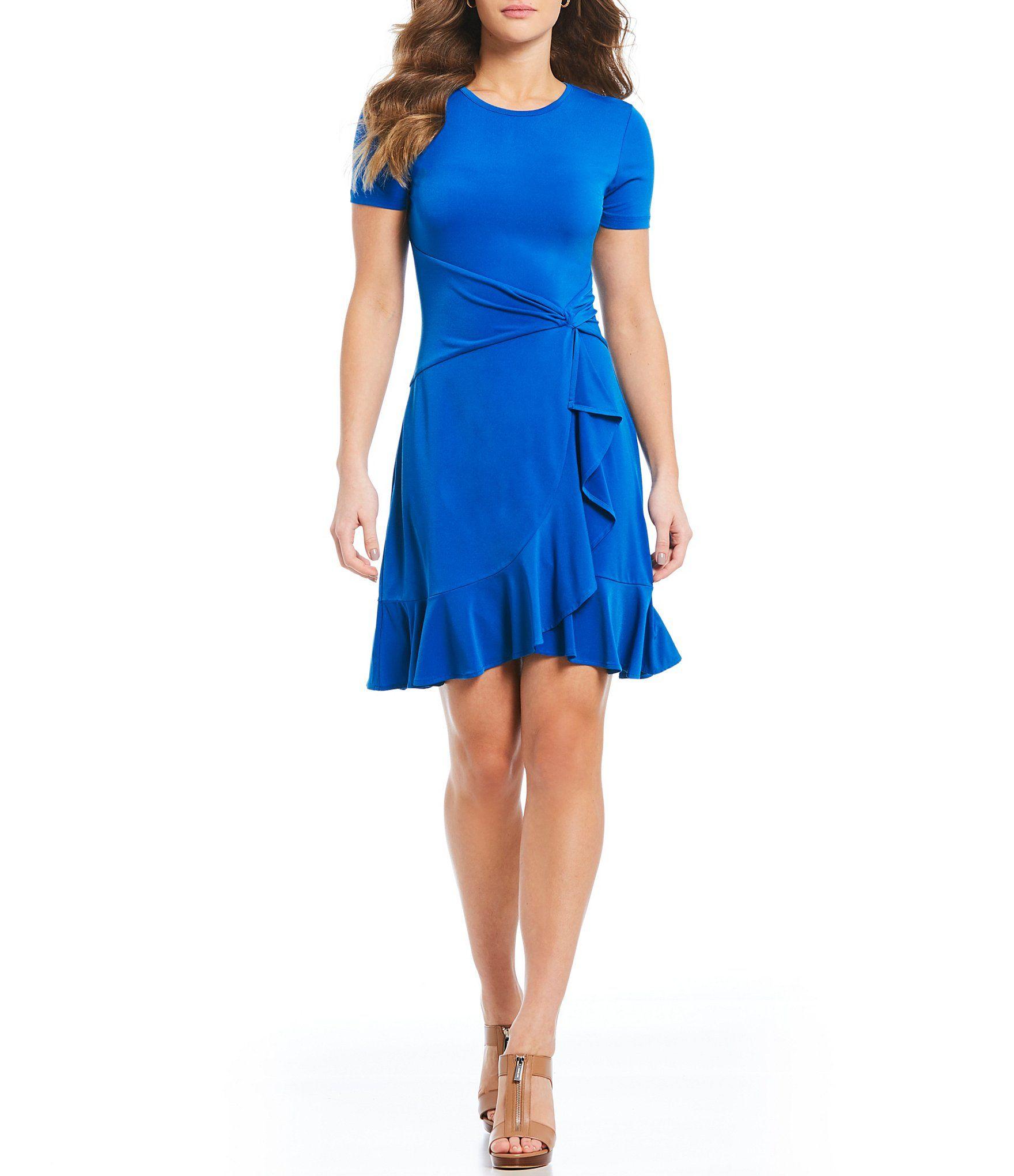 0f33a5af340 Shop for MICHAEL Michael Kors Matte Jersey Twist Waist Ruffle Hem Dress at  Dillards.com