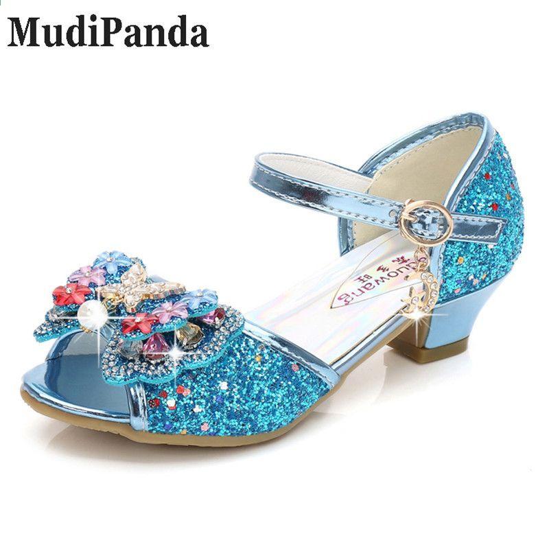 d0e24e3b MudiPanda Sandalias Rosa para niñas 2018 primavera nueva moda niña princesa  sandalias arco zapatos de tacón