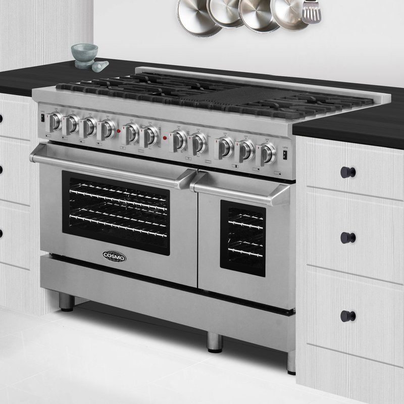 48 5 84 Cu Ft Freestanding Dual Fuel Range With Images Range