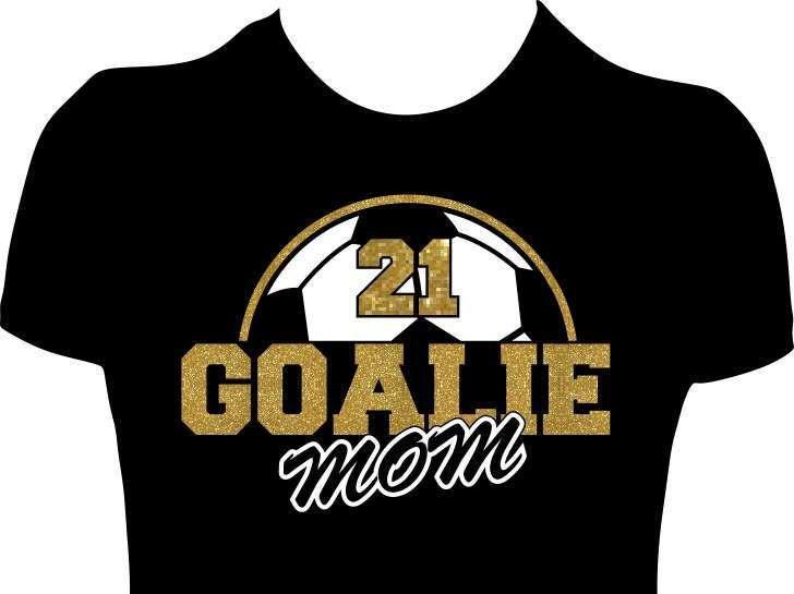 a2c0f09ff Soccer Goalie Mom Shirt Custom Shirts, Soccer Personalized Tees, Women  Shirts Soccer Ball Glitter Tees Soccer Tanks by GlitzyTees on Etsy