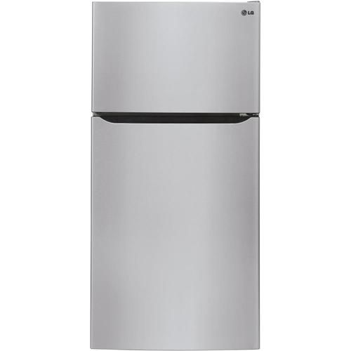Lg 33 Wide Top Mount Refrigerator 23 8 Cu Ft Top Freezer Refrigerator With Ice Maker Stainless Steel Energy Star Lowes Com Top Freezer Refrigerator Stainless Steel Refrigerator Top Mount Refrigerator
