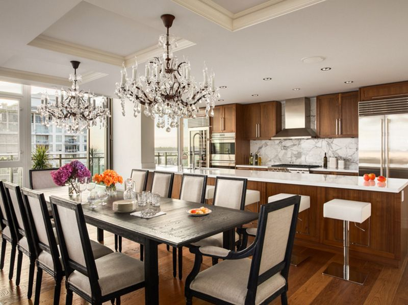 20 Assorted Crystal Chandeliers In Dining Rooms In 2020 Mit
