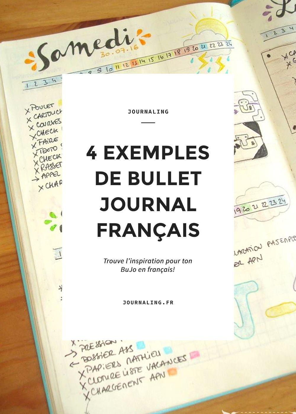 bullet journal fran ais 4 super sources d 39 inspiration journaux francais bullet journal et. Black Bedroom Furniture Sets. Home Design Ideas