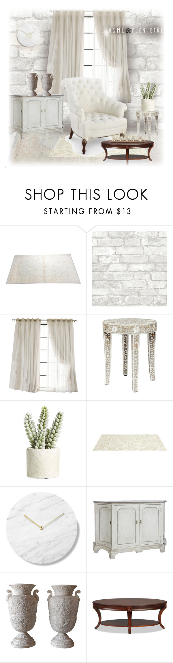 """#tableandchair"" by liligwada ❤ liked on Polyvore featuring interior, interiors, interior design, home, home decor, interior decorating, Allstate Floral, Somerset Bay, Bungalow 5 and Pomeroy"