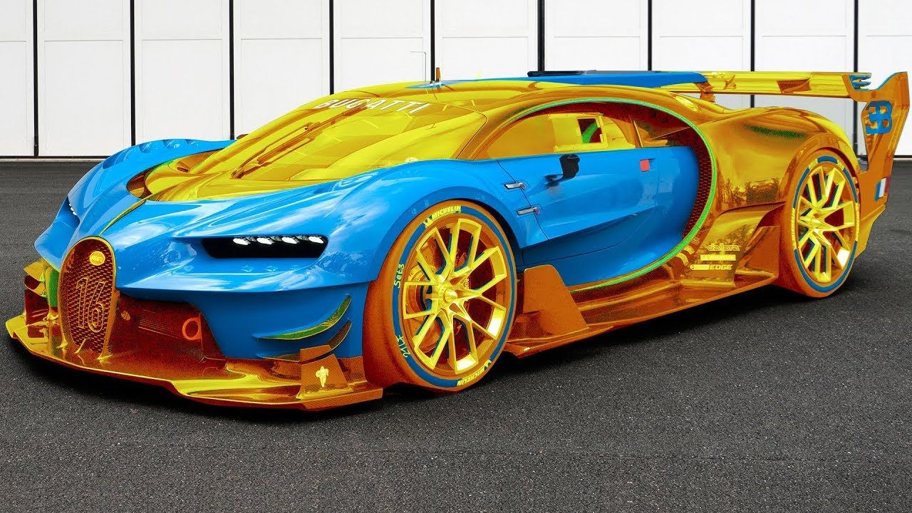 Bugatti Gold And Blue In 2020 Fast Cars Top 10 Fastest Cars Cool Sports Cars