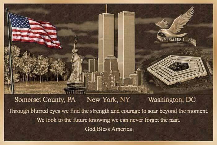 Sept 11 Tribute Remembering September 11th 911 Never Forget God Bless America