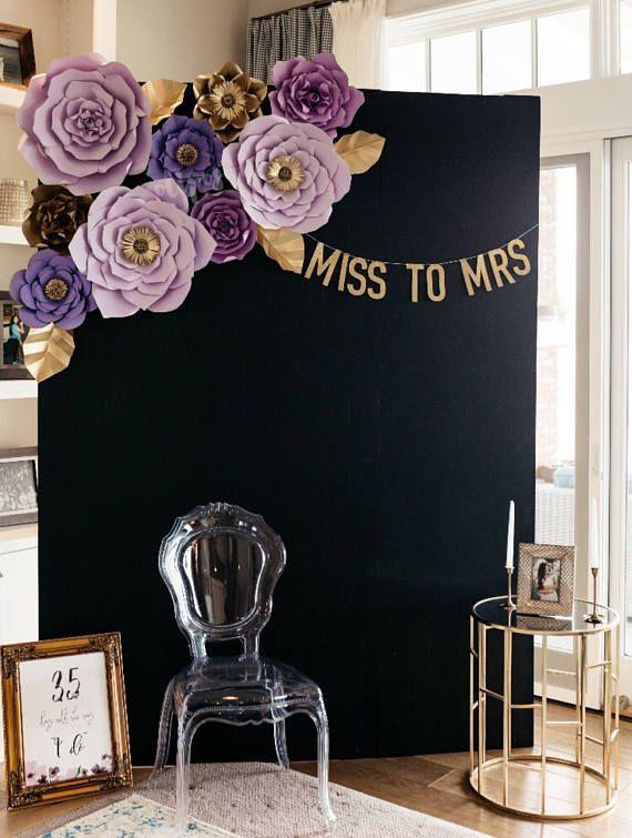 Brautpartydekor, Brautpartyinspiration, lila Brautparty #bridalshowerdecorations