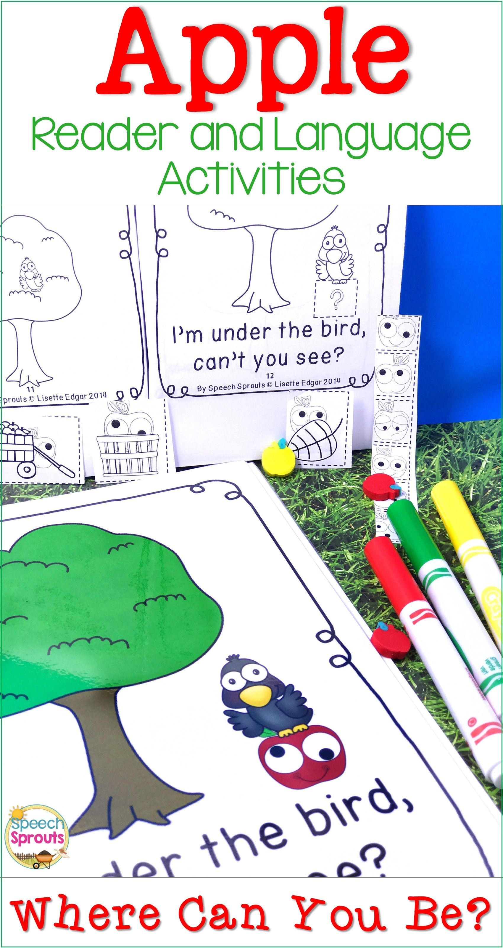 Apple Apple Reader And Speech Therapy Language Activities For Where Questions