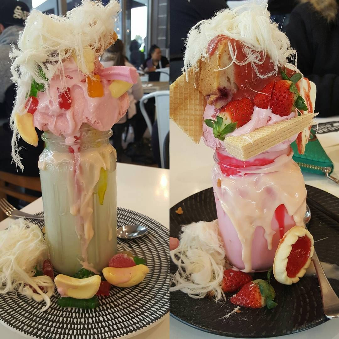 a couple of freakshakes starwberry shortcake on the right. Black Bedroom Furniture Sets. Home Design Ideas