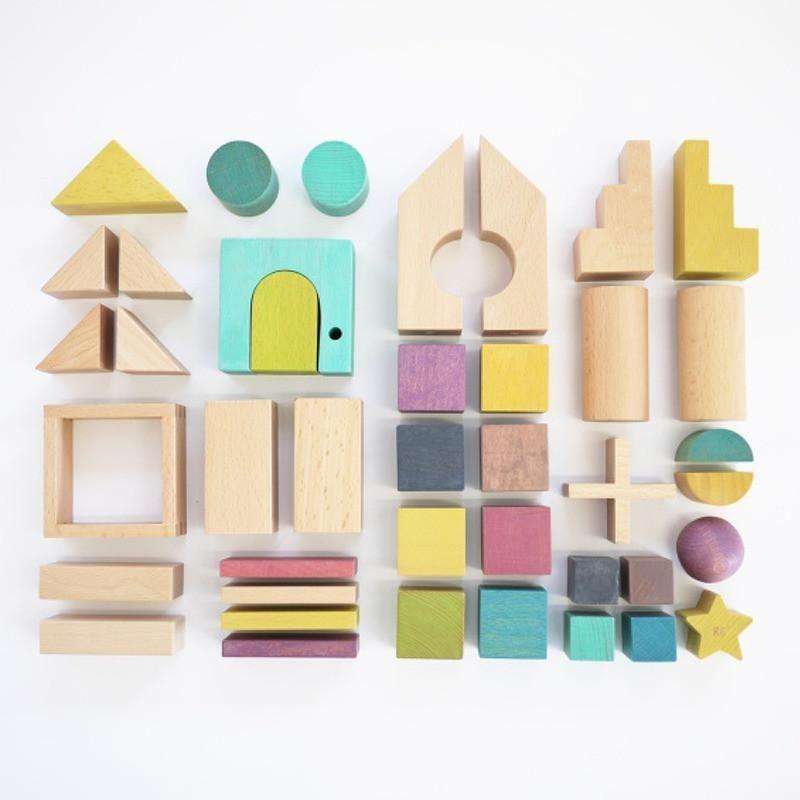 gg bausteine aus buchenholz holzkl tze pinterest. Black Bedroom Furniture Sets. Home Design Ideas
