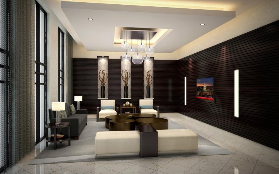 Slate lobby sedona slate lobby arlington apartments for Apartment lobby design