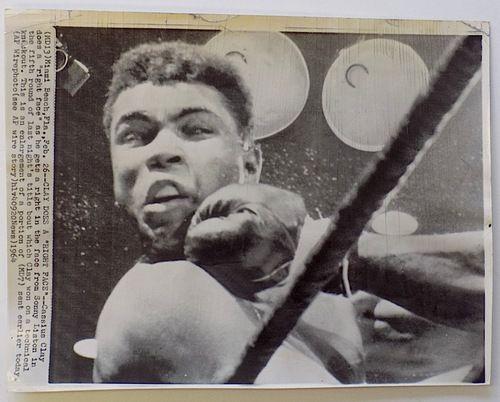 Muhammad Ali 1964 AP Wire Right Face Photo