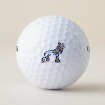 Chinese crested dog golf balls