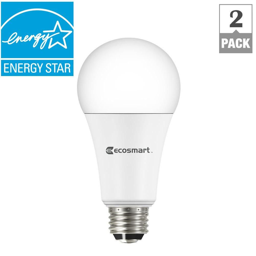 Ecosmart 100w Equivalent Daylight A21 3 Way Dimmable Led Light Bulb 2 Pack With Images Led Bulb Light Bulb Bulb