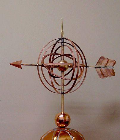 Armillary Weathervane Heavy Gauge Copper Armillary