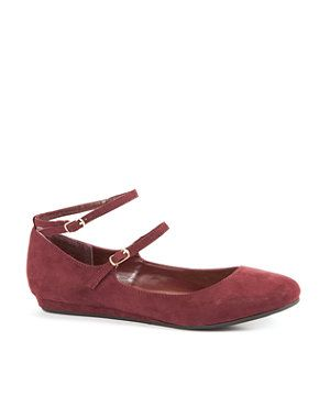 Dark Red Double Ankle Strap Pumps | 255843762 | New Look