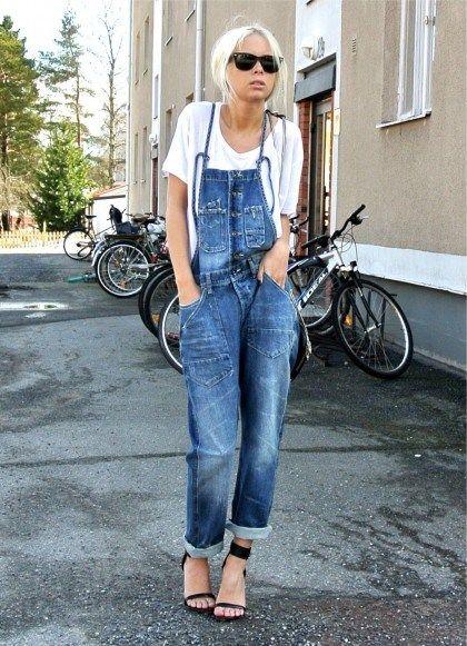chic in denim overalls