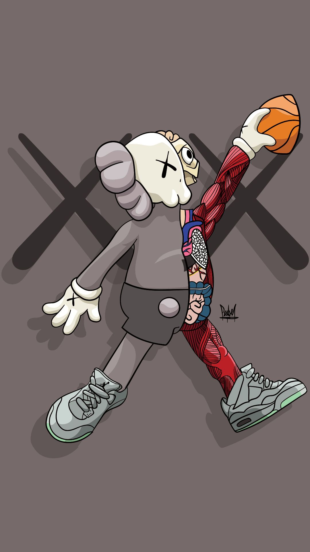 77 Kaws Hd Wallpapers On Wallpaperplay Papel De Empapelar Nike