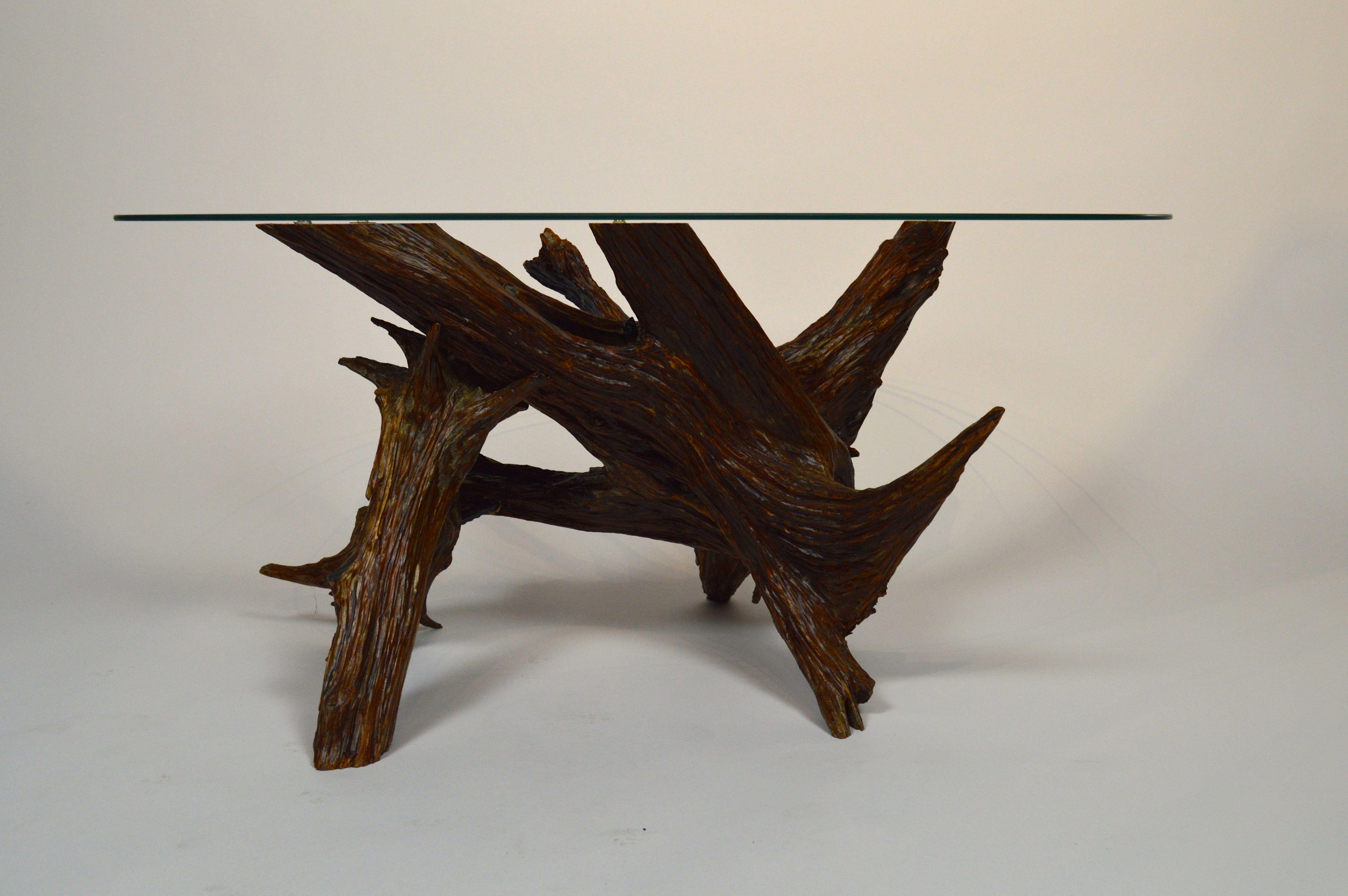 Custom Made Cedar Root Coffee Table