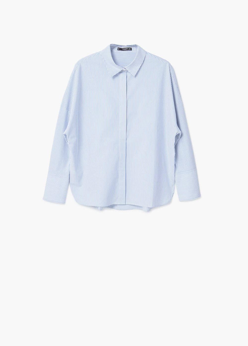 Хлопковая рубашка в полоску - Рубашки - Женская | MANGO МАНГО Россия (Российская Федерация)