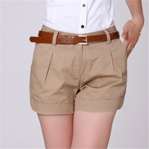 Summer Shorts Plus Size S-XXL Saias Femininas Summer Women Cotton ...