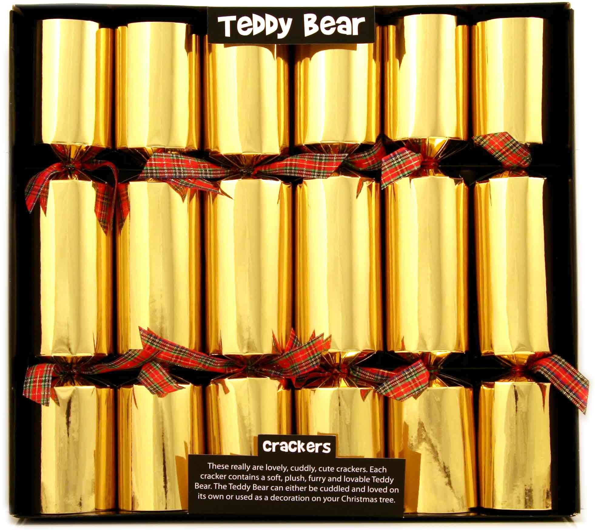 6 teddy bear christmas crackers amazoncouk kitchen home