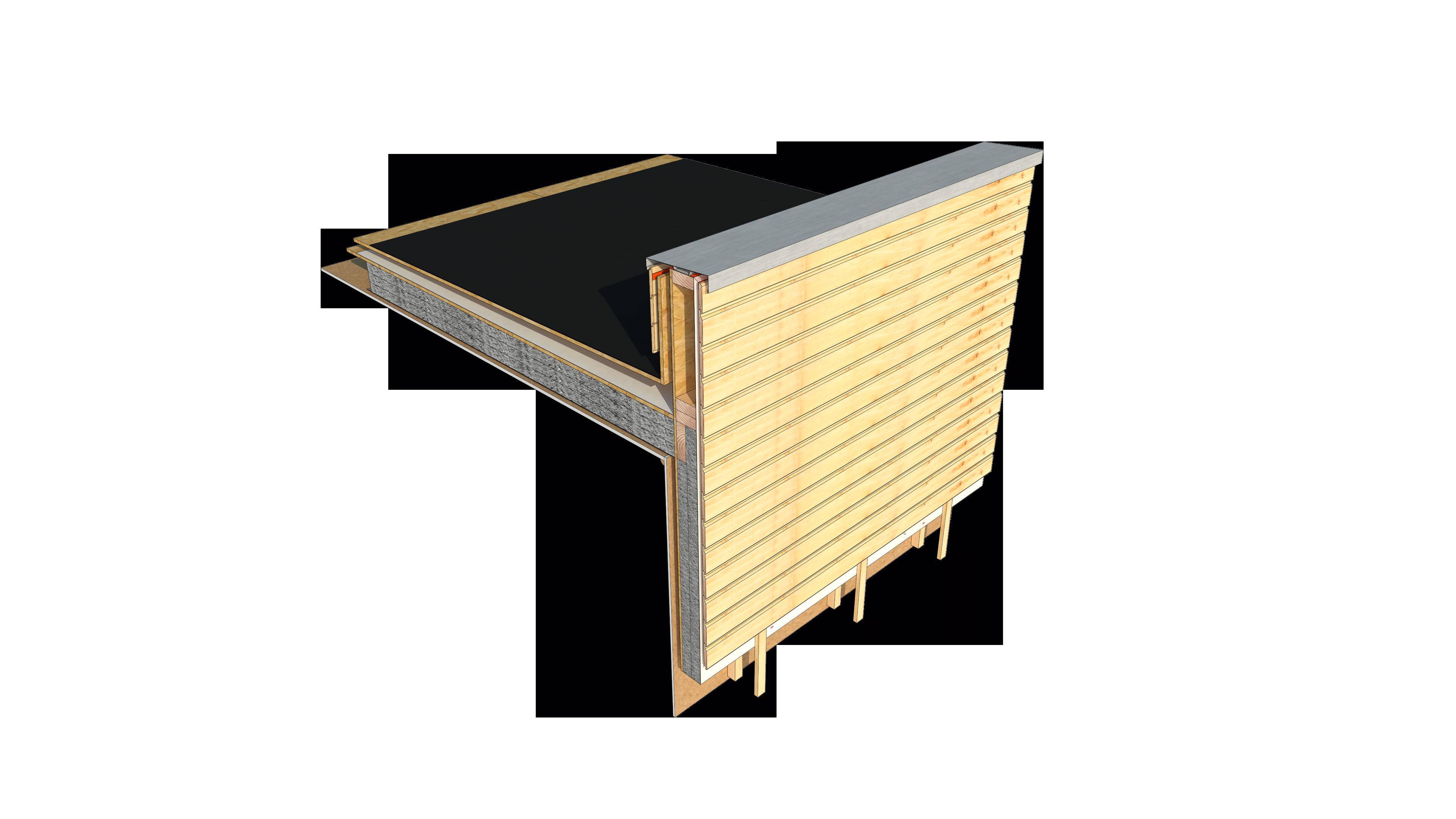 F04 Techo Plano Con Antepecho Realizado Por Polomadera Antepecho Detalles Constructivos Constructivo