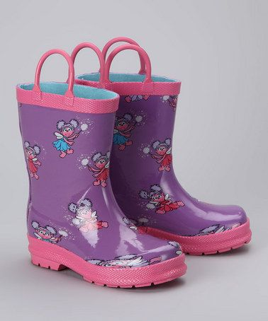 Take a look at this Purple Abby Rain Boot by Hatley on #zulily today!